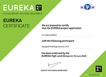 Standard Profil received a 2-year support from EUREKA